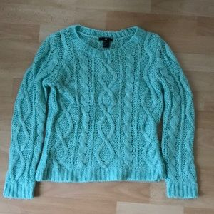 Mint Cableknit Sweater